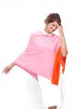"Modassori Damen Poncho ""Street Life"", 100% Merinowolle, 2-farbig, Pink/Orange<p class=""wc-gzd-cart-info delivery-time-info"">Lieferzeit: 2 Tage</p>"